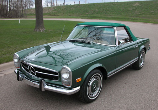 Another Pristine Lake Country Classics Restored Mercedes 280SL Roadster in Minneapolis for Sale on eBay, Local Minneapolis Mercedes Benz Club Member Car