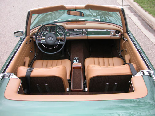 Another pristine lake country classics restored mercedes for Mercedes benz vip club black leather