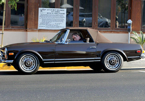 """There are just some things you don't do, and one of them is mess with another man's vehicle"" John Travolta's Vintage Mercedes 280SL Stolen from Santa Monica Street"