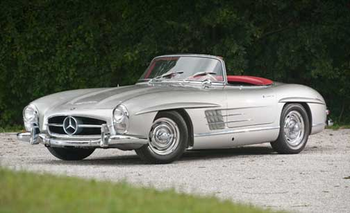 Mercedes 300SL Roadster Expertly Restored here in Minneapolis by my Buddy Bruce Kelly of Lake Country Classics Crossing RM Auction Block RIGHT NOW! in Arizona Today, NO RESERVE! SOLD at $670k!