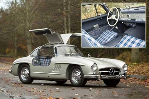 Vintage Plaid Interior Mercedes Benz