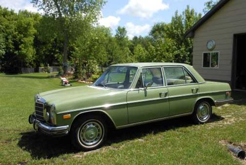 1973 Mercedes 280 Sedan in Classic Caledonia Green over Parchment Interior For Sale on Craigslist in Anoka, MN Just $2,200!