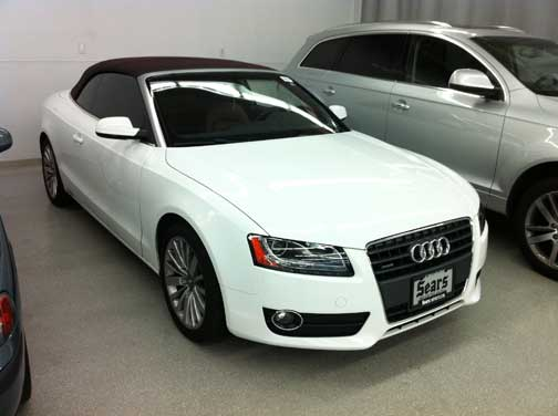 White 2010 Audi A5 Cabriolet