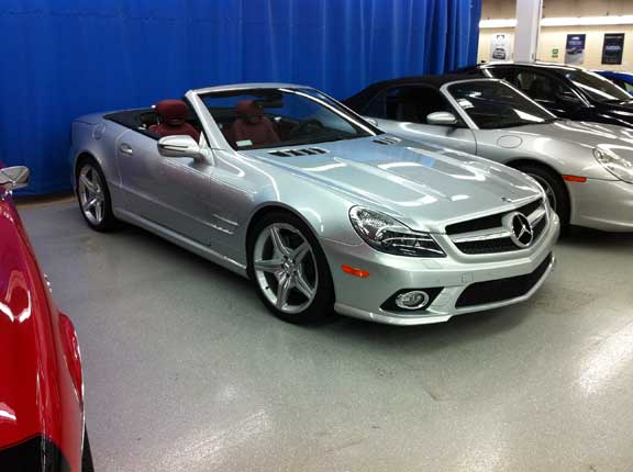 Mercedes SL 550 silver arrow