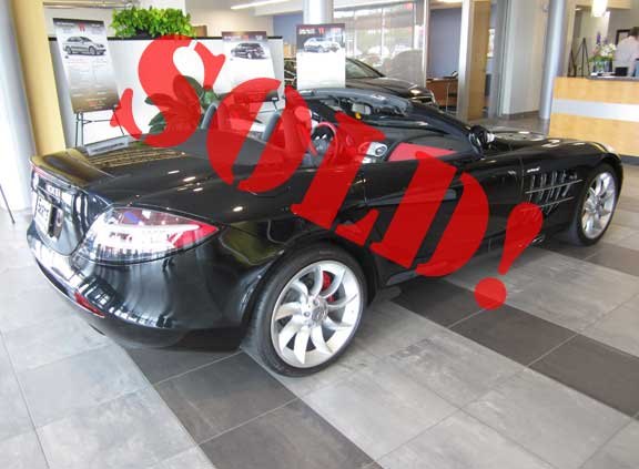 SOLD! McLaren SLR Roadster with just 943 Original Miles – Going to a New Home Near St. Louis, MO