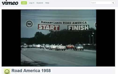 1958 Tom Countryman Road America Film