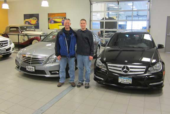 A Very Merry Christmas! Local Father / Son Duo Pick Up Their New Mercedes Benz C and E Classes in Time For Christmas!