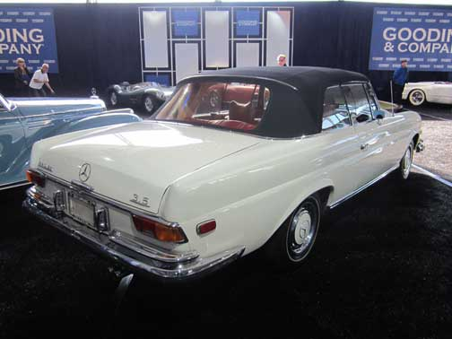 Mercedes 280SE 3.5 Cabriolet Gooding and co Scottsdale 2013