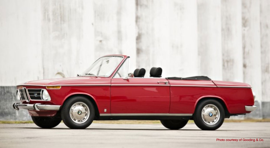 Gooding and Co. Sells 1971 BMW 2002 Cabriolet by Bauer for $68,200 at Amelia Island