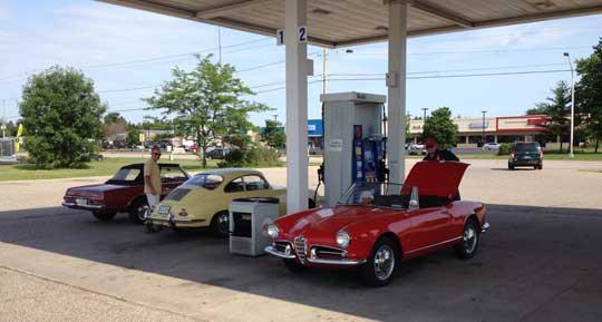 Mercedes Alfa Romeo Porsche Road Trip