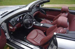 2009-Mercedes-R230-SL550-Silver-Arrow-red-leather-interior