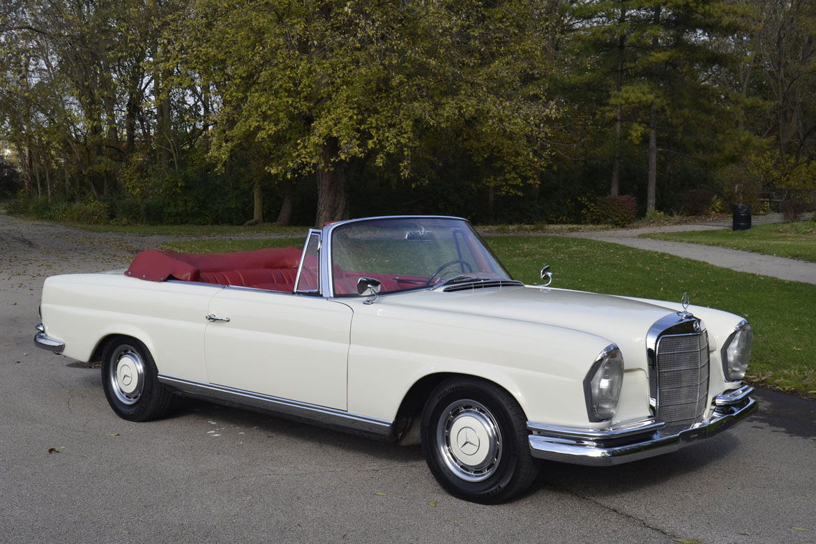 1963 mercedes 220 se convertible for sale restored euro car w known history dave knows cars. Black Bedroom Furniture Sets. Home Design Ideas