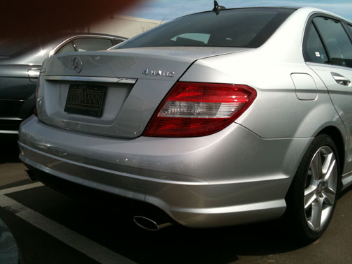 Bumper Trim For 2008-2011 Mercedes Benz C300 C350 Set of 2 Rear Left /& Right