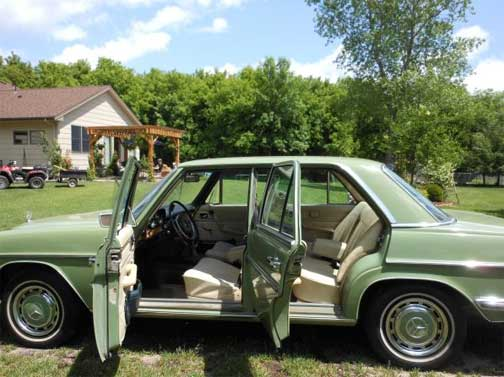 1973 Mercedes 280 Sedan in Classic Caledonia Green over ...