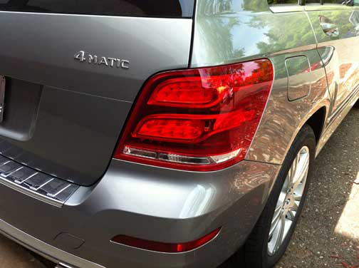 2013 Mercedes GLK350 LED tail lamps